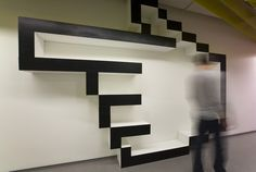 3D directional sign at Yandex Saint Petersburg, Russia office by Za Bor Architects