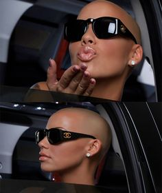 Amber Rose in dope CC sunnies Amber Rose, Ray Ban Sunglasses Outlet, Chanel Sunglasses, Sunnies, Kanye West, Most Beautiful Women, Beautiful People, Black Chyna, Bald Look