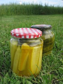 Meals In A Jar, Preserves, Salads, Food And Drink, Jars, Recipes, Foods, Preserving Zucchini, Pickled Zucchini