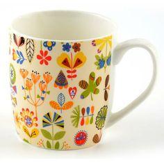 Folk Floral Barrel Mug #Dunelm #Tea #Coffee #Pausa