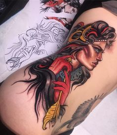 Woman Warrior Tattoo Designs - Images for Tatouage