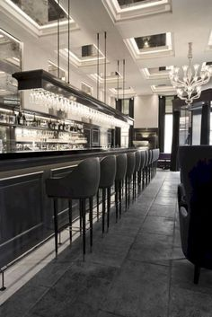 like the bar design wood panels -Balthazar Champagne Bar by SPACE Copenhagen, Copenhagen hotels and restaurants Design Hotel, Design Lounge, Bar Interior Design, Restaurant Interior Design, Cafe Design, Restaurant Interiors, Back Bar Design, Hotel Interiors, Floor Design