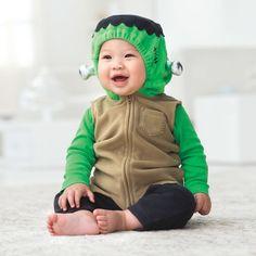 CARTER'S BABY Boy 3PC MONSTER FRANKENSTEIN HALLOWEEN COSTUME 3-6MO. MSRP $ 40.00…