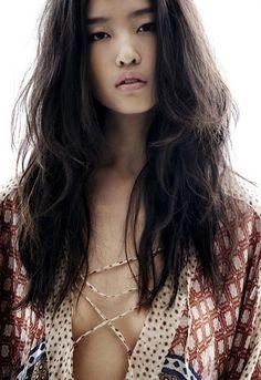 All natural and tousled: Face, Girl, Inspiration, Asian Beauty, Makeup, Asian Bohemian Fashion, Hair Style, Boho