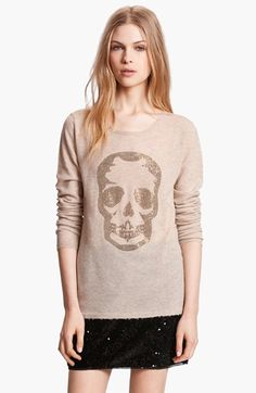 Zadig & Voltaire 'Miss Bis' Skull Embellished Sweater available at #Nordstrom. WANT WANT WANT WANT
