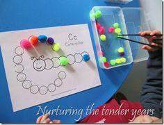 Caterpillar-Letter C Activities & More Ideas