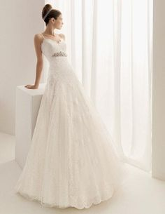 Airy Lace Wedding Dress Straps A Line Bridal Gown Free Jacket Size All New HOT on AliExpress.com. $153.00