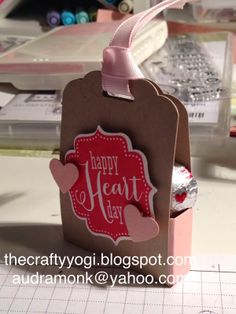 Stampin Up, Valentines, sweet treat boxes, Tags For You.