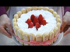 TORTA TIRAMISU' ALLE FRAGOLE RICETTA FACILE - Homemade Strawberry Tiramisù Cake…