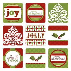 picture regarding 12 Days of Christmas Printable Templates named 12 Times of Xmas Monogram Stickers as a result of Stephanie
