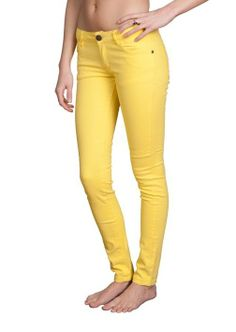 Women's Skinny Brushed Cotton Tapered Stretch Jeans by Gazoz