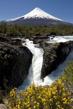 Petrohué Falls, Chile - Provided by House Beautiful