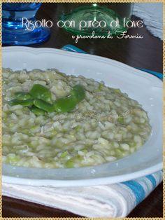 Risotto con purea di fave e provolone di Formia (Risotto with beans and provolone of Formia)