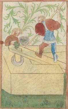 Kriegstechnik (Bilderhandschrift) Oberrhein · um 1420-1440 Ms. Rh. hist. 33b  Folio 160r