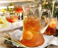 Our iced tea recipe contains vodka, perfect for a summer evening in the garden! Cocktail Party Food, Cocktail Drinks, Cocktails, Punch Recipes, Tea Recipes, Irn Bru, Good Housekeeping, Non Alcoholic, Iced Tea