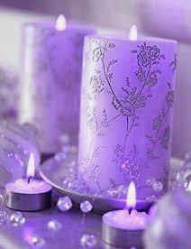 #Centerpieces #Candles #Purple