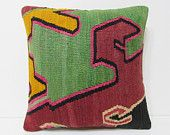 """Turkish cushion 18"""" sofa throw pillow kilim pillow cover decorative pillow case couch outdoor floor bohemian boho ethnic rustic accent 21794"""