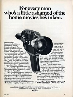 For every man who's a little ashamed of the home movies he's taken. 1971