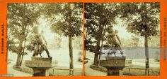 Statue of boy and the swan Druid Hill Park, Baltimore, Maryland, 1865. From the New York Public Library. (Photo by Smith Collection/Gado/Getty Images).