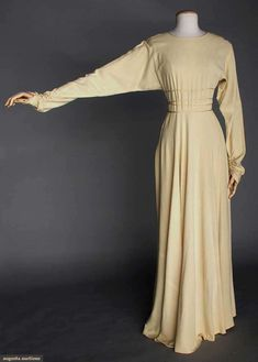 VALENTINA IVORY EVENING GOWN, 1930s    Unlabeled & bought at Valentina Schlee's personal estate sale...