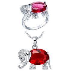 Elephant Shaped Jewelry Set Birthday Gift by UloveFashionJewelry, $15.69