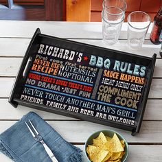 Rules for Great Grilling Tray