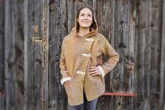 Items similar to Wool-Coat I orange-melange button-up-Coat I Hooded-Coat I Wool-Jacket I All-Wool-Coat on Etsy Wool Wash, Wool Coat, Maternity, Pure Products, Orange, Button, Model, Sweaters, How To Wear