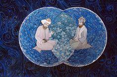 Mevlana ve Şems, İki Denizin Kavuşması | Mevlana | Collections | Fine Islamic Arts | Şermin Ciddi