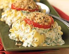 Parmesan Encrusted Lasagna with Spinach Florentine Sauce