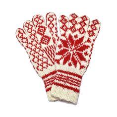 100% Pure Wool Norwegian Selbu Glove - Sweater Chalet