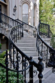 Wrought Iron Railings...Savannah, GA ~Wealth and Luxury ~Grand Mansions, Castles, Dream Homes & Luxury homes:
