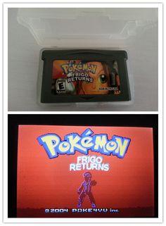 Pokemon games card Frigo english version for G-BA Game-boy Advance video game console