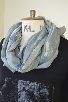 Muslin printed dyed scarf PIP collection