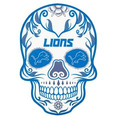 Applied Icon NFL Detroit Lions Outdoor Skull Graphic- Large - The Home Depot Detroit Lions Logo, Detroit Lions Football, Cincinnati Bengals, Football Team, Outside Fans, Marquesan Tattoos, Maori Tattoos, Skull Tattoos, Hand Tattoos