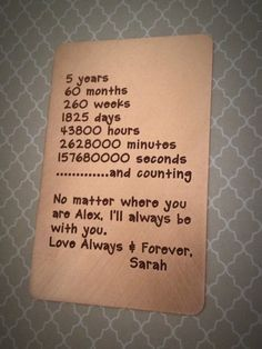 5 year anniversary letter to husband