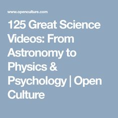 Madhubun educational books websupport online resources for 125 great science videos from astronomy to physics psychology open culture fandeluxe Gallery