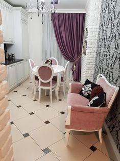 Дизайн кухни цвета баклажан: советы по оформлению, 30+ реальных фото примеров Cozinha Shabby Chic, Shabby Chic Kitchen, Design Your Kitchen, Interior Design Living Room, Home Decor Colors, Small Living Rooms, Cozy House, Design Case, Luxury Homes