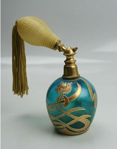 Antique Bohemian Perfume Atomizer
