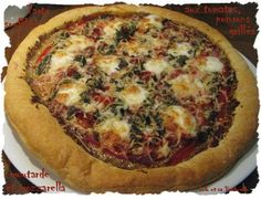 Tarte soufflée aux tomates, poivrons grillés, moutarde et mozzarella  (3)