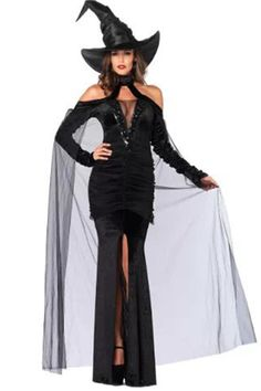 2018 Leg Avenues Womens Sultry Sorceress Costume and more Fantasy Costumes for Women, Witch Costumes for Women, Women's Halloween Costumes for Costumes Sexy Halloween, Witch Costumes, Witch Hats, Women Halloween, Spooky Halloween, Halloween Club, Witch Cosplay, Trendy Halloween, Cheap Halloween