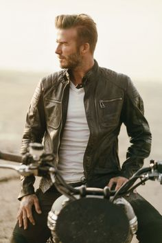 David Beckham Showcases His Latest Collaboration With Belstaff, 2015
