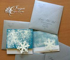 Winter Wonderland Wedding Invitations (Invitatii Iarna ca-n povesti) - Handmade by Meda
