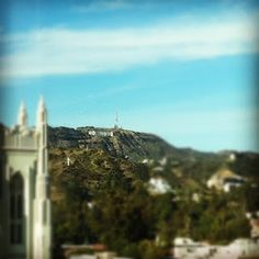 Welcome to Hollywood!  Can you believe the view from my hotel room?