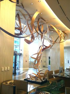 Gorgeous moving art installation at the Renaissance Arlington Capital View Hotel.