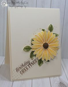 I used the Stampin' Up! Daisy Delight stamp set bundle to create a sort-of sunflower look birthday card for my card share today. I'm planning to jump on Facebook Live around 10:00 AM ET today…