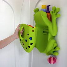 Boon Frog Pod Bath Toy Holder - Scoop, drain and store your favorite bath toys! ~need to order! MUST BUY the whale one for baby shower gift Bathroom Kids, Kids Bath, Frog Bathroom, Bath Toy Storage, Our Baby, Baby Boy, Ideas Prácticas, Baby Bath Toys, Baby Gadgets