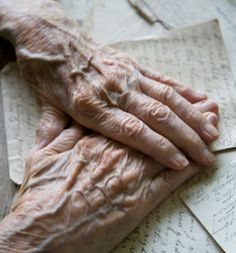 Old Hands - Imagine the pages that have been turned by these hands, the letters written, the life lived. Blessed aged hands.