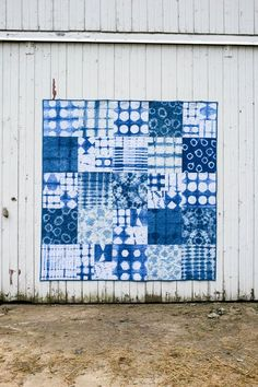 A comprehensive guide to Shibori Indigo Fabric Dyeing techniques for beginners. Lots of before and after resist methods included.
