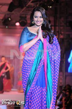 Pics - Ramp queens: Kangana, Sonakshi http://ndtv.in/11dpsnb