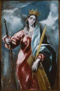 Saint Catherine -El Greco (Domenikos Theotokopoulos), Greek (active in Spain), 1541–1614 | Museum of Fine Arts, Boston